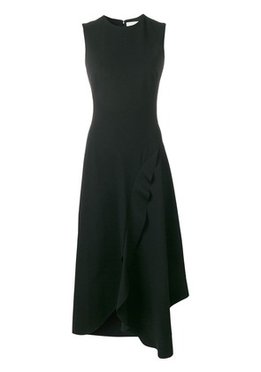 Victoria Beckham asymmetric ruffled dress - Black