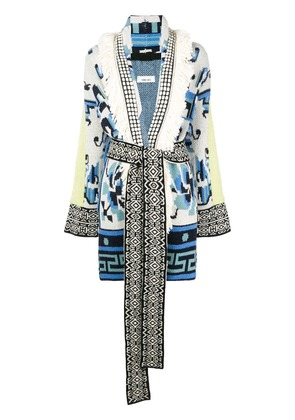 Circus Hotel oversized tapestry coat - Blue