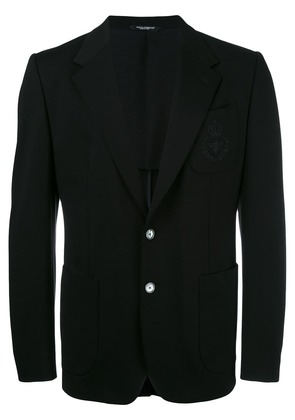 Dolce & Gabbana bee & crown embroidered blazer - Black