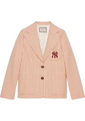 Gucci Silk wool jacket with NY Yankees™ patch - Nude & Neutrals