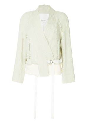 Song For The Mute loose asymmetric jacket - Nude & Neutrals