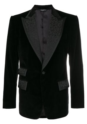 Dolce & Gabbana formal embroidered blazer - Black