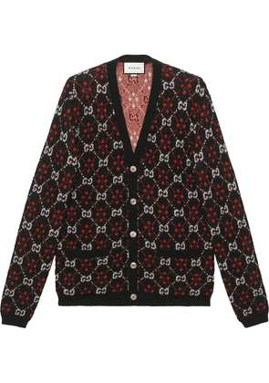 Gucci GG diamond wool cardigan - Black