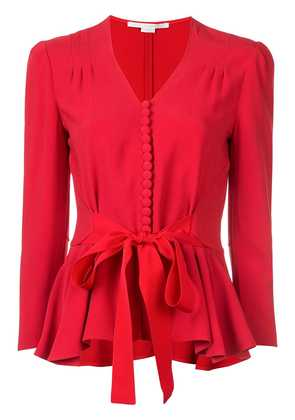 Stella McCartney tie waist buttoned blouse - Red