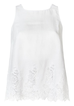 Ermanno Scervino sleeveless lace-trimmed top - White