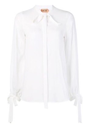 No21 front bow blouse - White