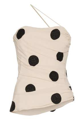 Jacquemus polka dot embroidered top - Nude & Neutrals