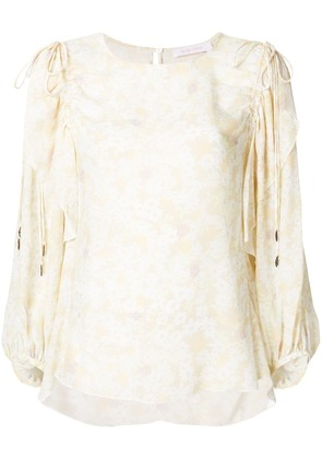 See By Chloé floral ruffle trim blouse - Yellow & Orange