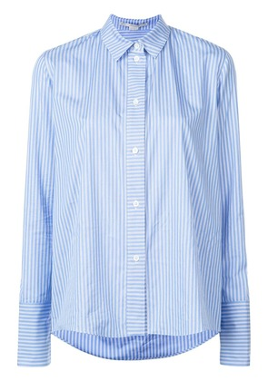 Stella McCartney boxy striped shirt - Blue