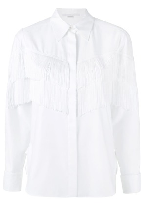 Stella McCartney Alina fringe shirt - White