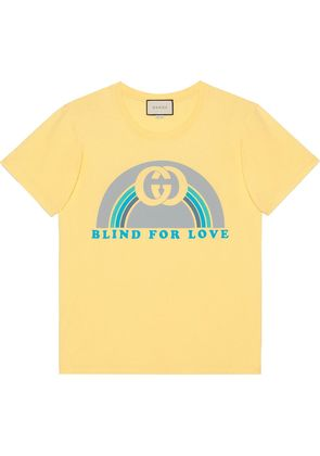 Gucci Oversize T-shirt with rainbow print - Yellow