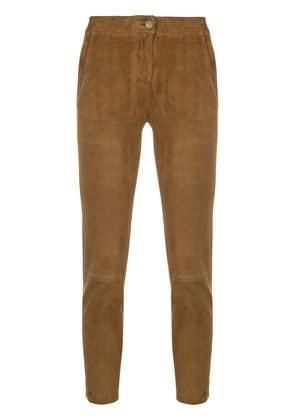 Arma slim-fit cropped trousers - Brown