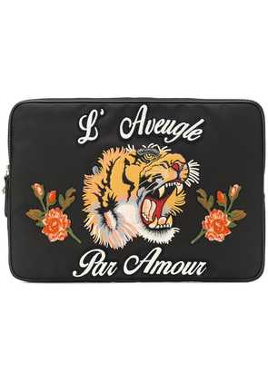 Gucci L'Aveugle Par Amour laptop case - Black