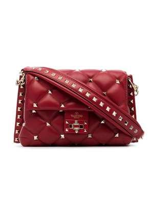 Valentino red Candystud studded quilted leather cross-body bag
