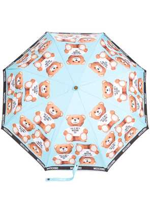 Moschino teddybear print umbrella - Blue