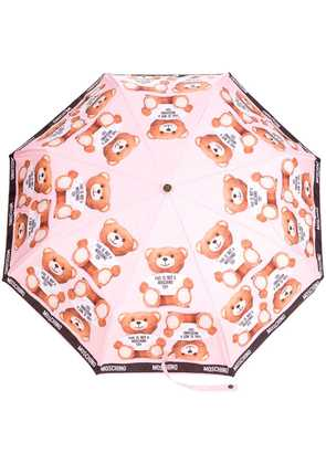 Moschino teddybear print umbrella - Pink & Purple