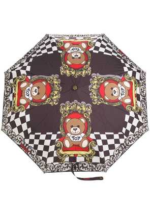 Moschino teddybear print umbrella - Black