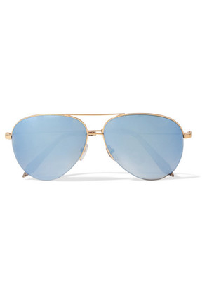 Victoria Beckham - Aviator-style Gold-tone Mirrored Sunglasses - one size