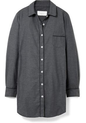 Three J NYC - Grace Cotton-flannel Nightdress - Charcoal