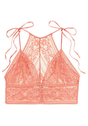 Stella McCartney - Ophelia Whistling Stretch-leavers Lace Soft-cup Bra - Blush