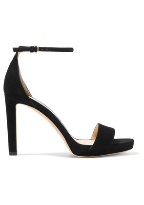 Jimmy Choo - Misty 100 Suede Sandals - Black