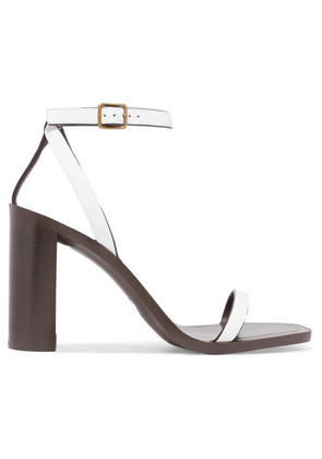 Saint Laurent - Loulou Leather Sandals - White
