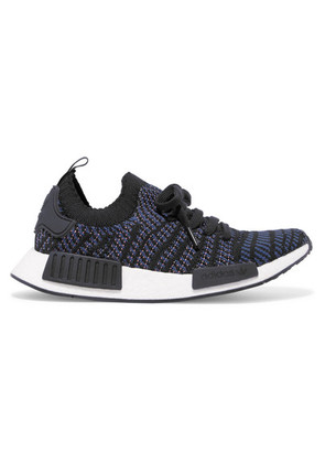 adidas Originals - Nmd r1 Rubber-trimmed Primeknit Sneakers - Black
