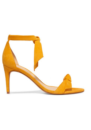 Alexandre Birman - Clarita Bow-embellished Suede Sandals - Yellow