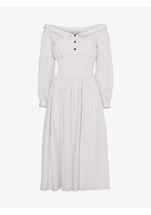 Sandy Liang marge off shoulder cotton dress