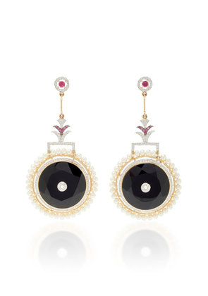 Hanut Singh One-Of-A-Kind Circle Of Life Earrings