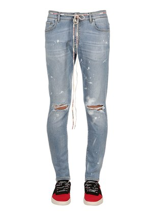DESTROYER COTTON DENIM JEANS