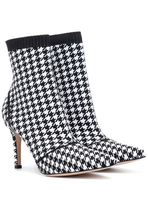 Houndstooth 85 ankle boots