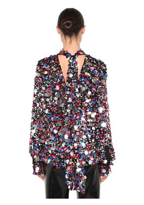 SEQUINED MULTI COLOR TOP