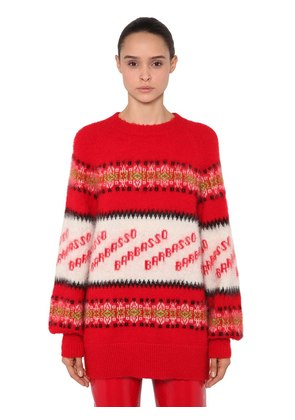 OVERSIZED BARBASSO MOHAIR KNIT SWEATER