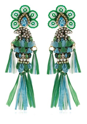 PARROTS GREEN EARRINGS