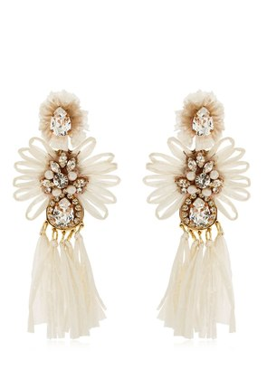 SICILY WHITE CLIP-ON EARRINGS