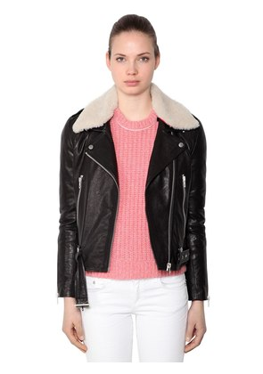 MCKENZIE LEATHER JACKET W/ COLLAR