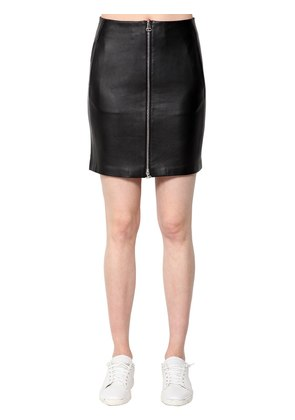HEIDI LEATHER MINI SKIRT