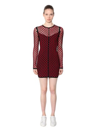 NET VISCOSE SHORT DRESS