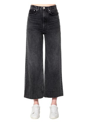 HARU COTTON DENIM WIDE LEG JEANS