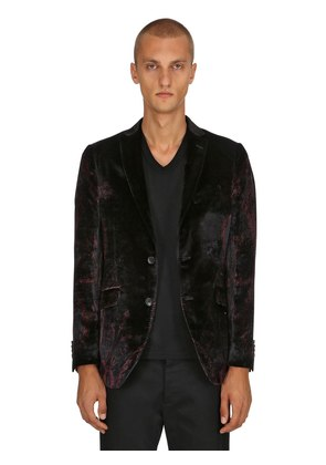 PAISLEY VISCOSE & SILK SATIN JACKET