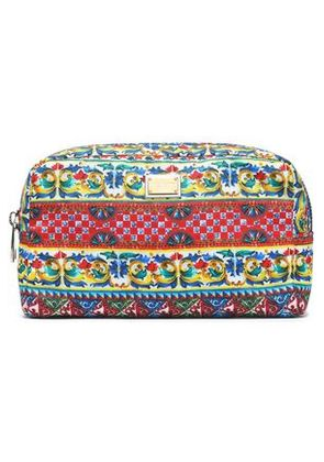Dolce & Gabbana Woman Printed Canvas Cosmetics Case Red Size -
