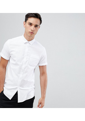 ASOS DESIGN Tall slim oxford shirt in white - White