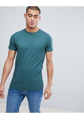 ASOS Longline T-Shirt With Crew Neck In Green - Otto