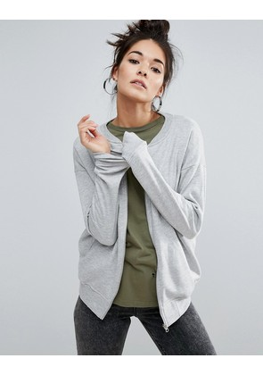 ASOS The Ultimate Bomber Jacket In Jersey - Grey marl