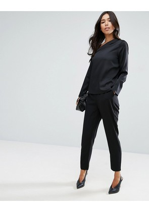 ASOS Woven Pull On Peg Trousers - Black