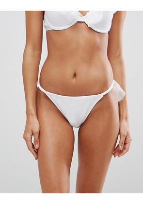 ASOS BRIDAL Tulle Frill Bow Back Tanga Bikini Bottom - White