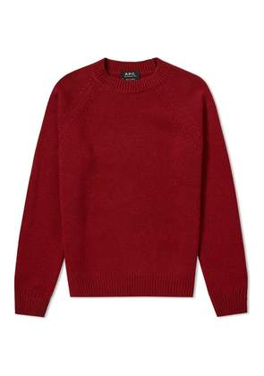 A.P.C. Markus Crew Knit Red