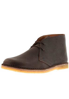 Pretty Green Leather Desert Boots Brown