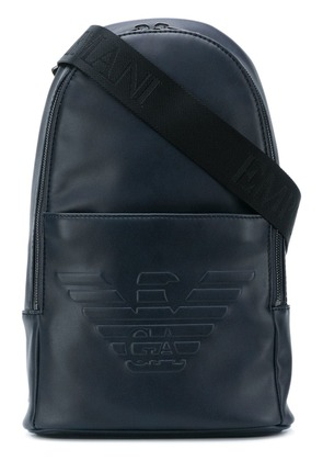 Emporio Armani embossed logo backpack - Blue